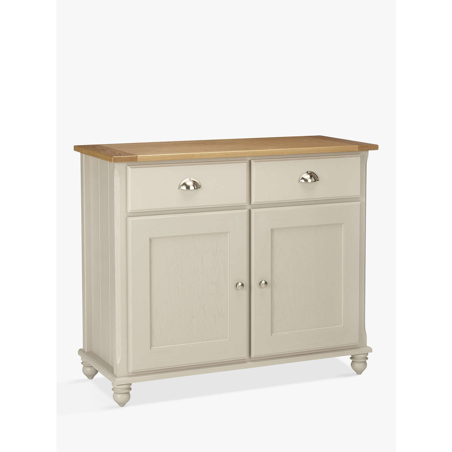 BuyJohn Lewis Audley Small Sideboard, Soft Grey Online at johnlewis.com ...