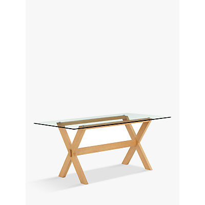 John Lewis & Partners Lydia 8 Seater Glass Top Dining Table