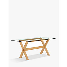 Buy John Lewis Lydia Glass Top Dining Table Online at johnlewis.com