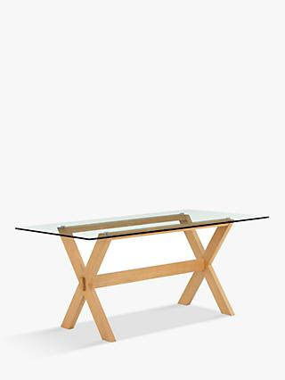 John Lewis & Partners Lydia Glass Top Dining Table
