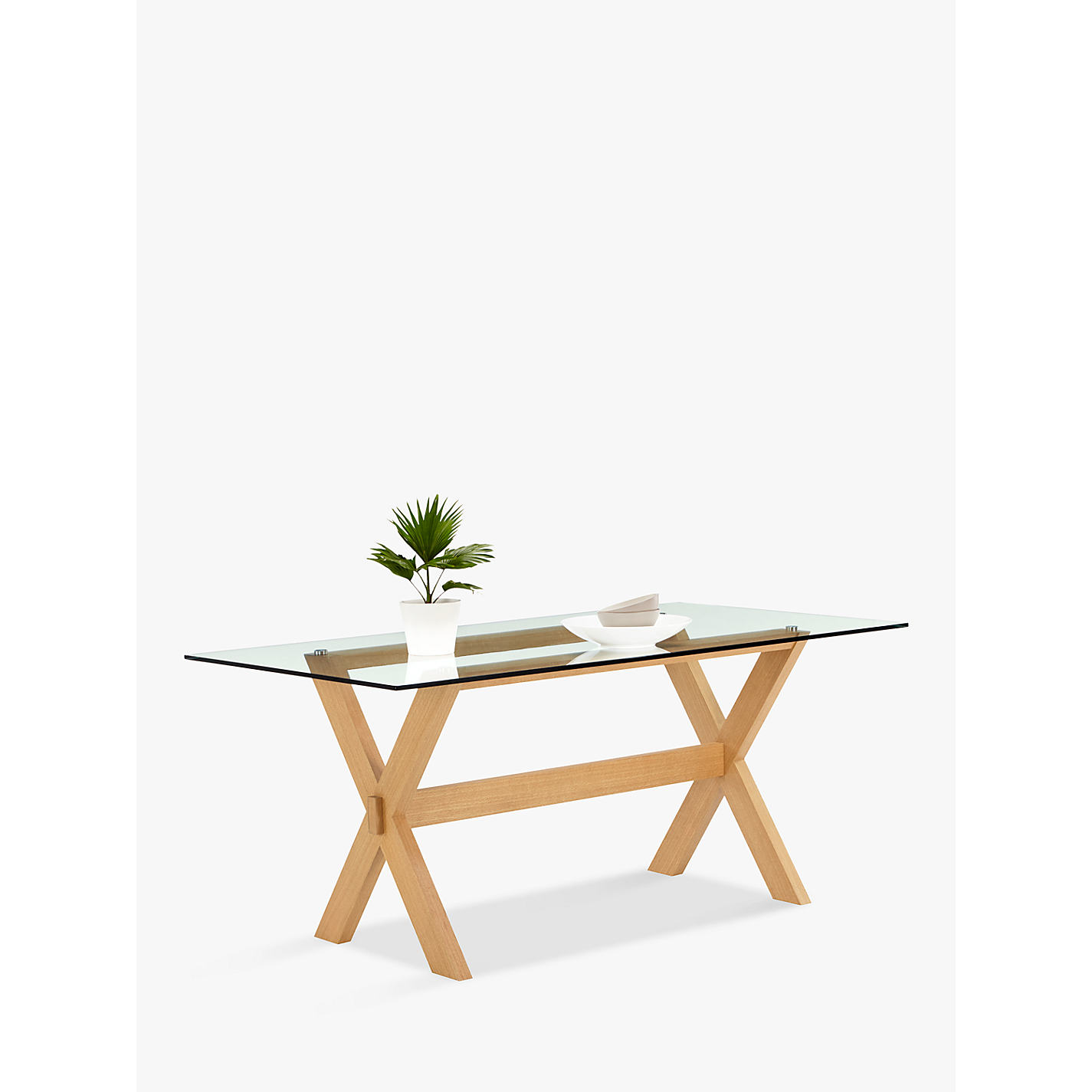 Buy john lewis lydia glass top dining table john lewis buy john lewis lydia glass top dining table online at johnlewis geotapseo Image collections