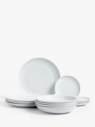 Design Project by John Lewis No.098 Coupe Dinnerware Set, 12 Pieces, White