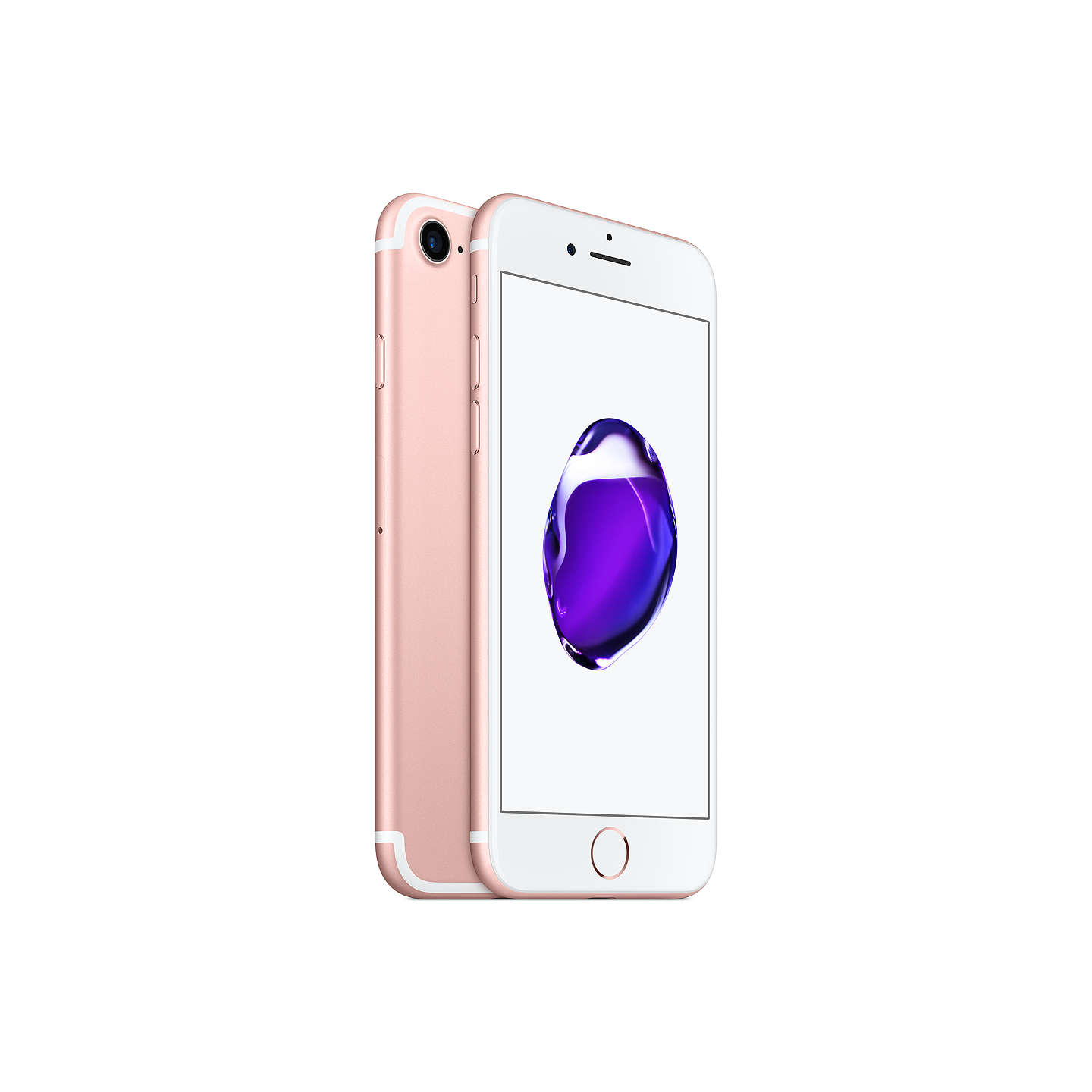 "BuyApple iPhone 7, iOS 10, 4.7"", 4G LTE, SIM Free, 128GB, Rose Gold Online at johnlewis.com"