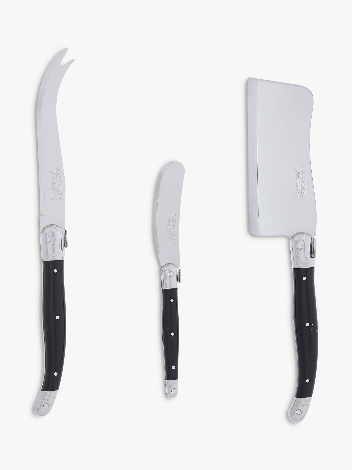 BuyLaguiole by Jean Dubost Black Cheese Set, 3 Pieces Online at johnlewis.com