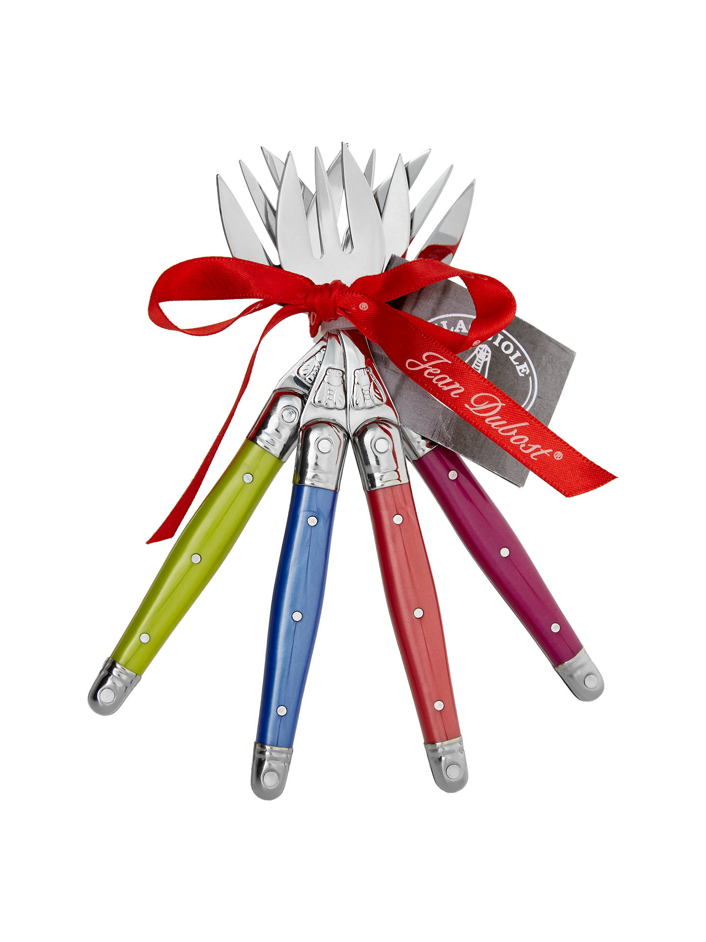 BuyLaguiole by Jean Dubost Iridescence Pastry Forks, 4 Piece Online at johnlewis.com