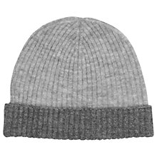 Buy Whistles Ribbed Two Tone Hat, Grey/Multi Online at johnlewis.com
