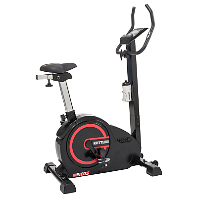 KETTLER Sport Picos Exercise Bike, Black/Red