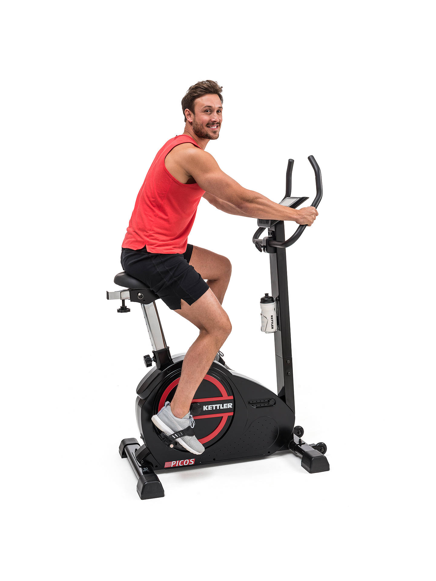 Buy KETTLER Sport Picos Exercise Bike, Black/Red Online at johnlewis.com
