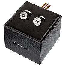Buy Paul Smith Button Cufflinks, Silver Online at johnlewis.com