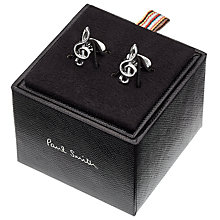 Buy Paul Smith Treble Clef Cufflinks, Silver Online at johnlewis.com