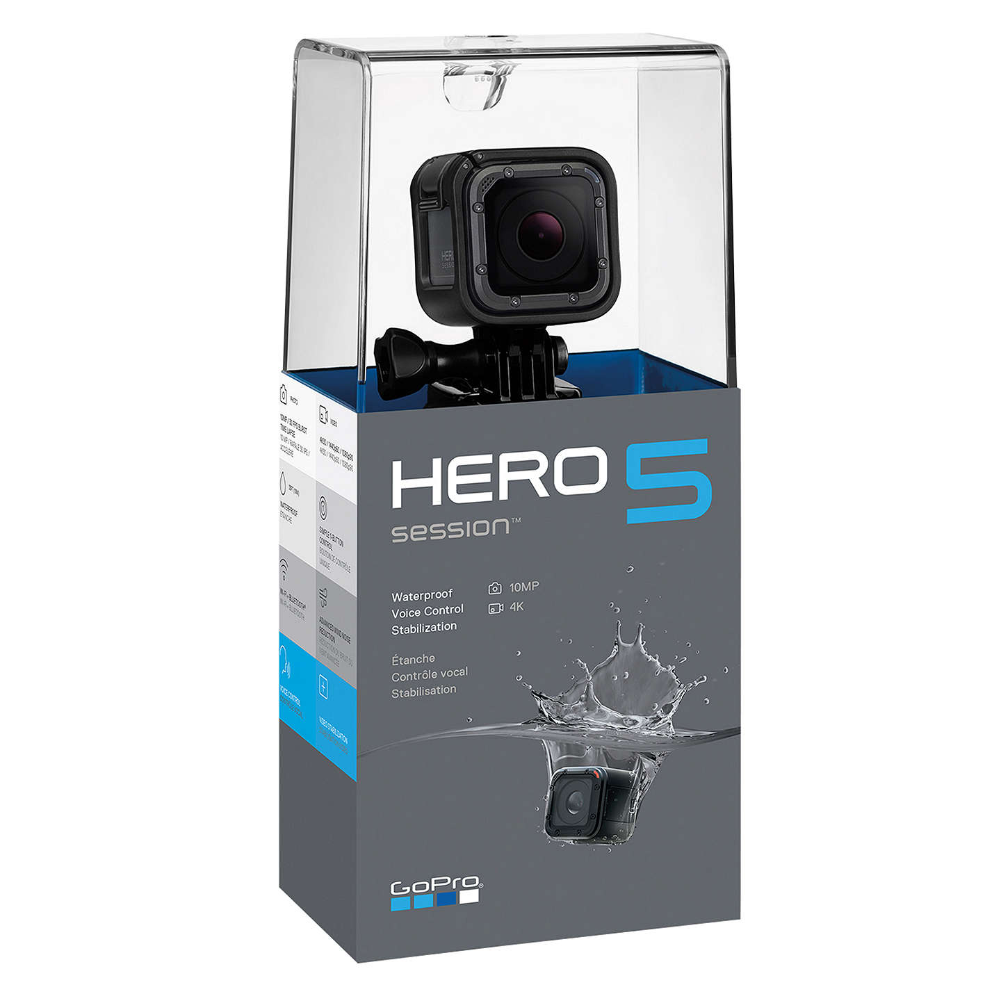 GoPro HERO5 Session Camcorder, 4K Ultra HD, 10MP, Wi-Fi