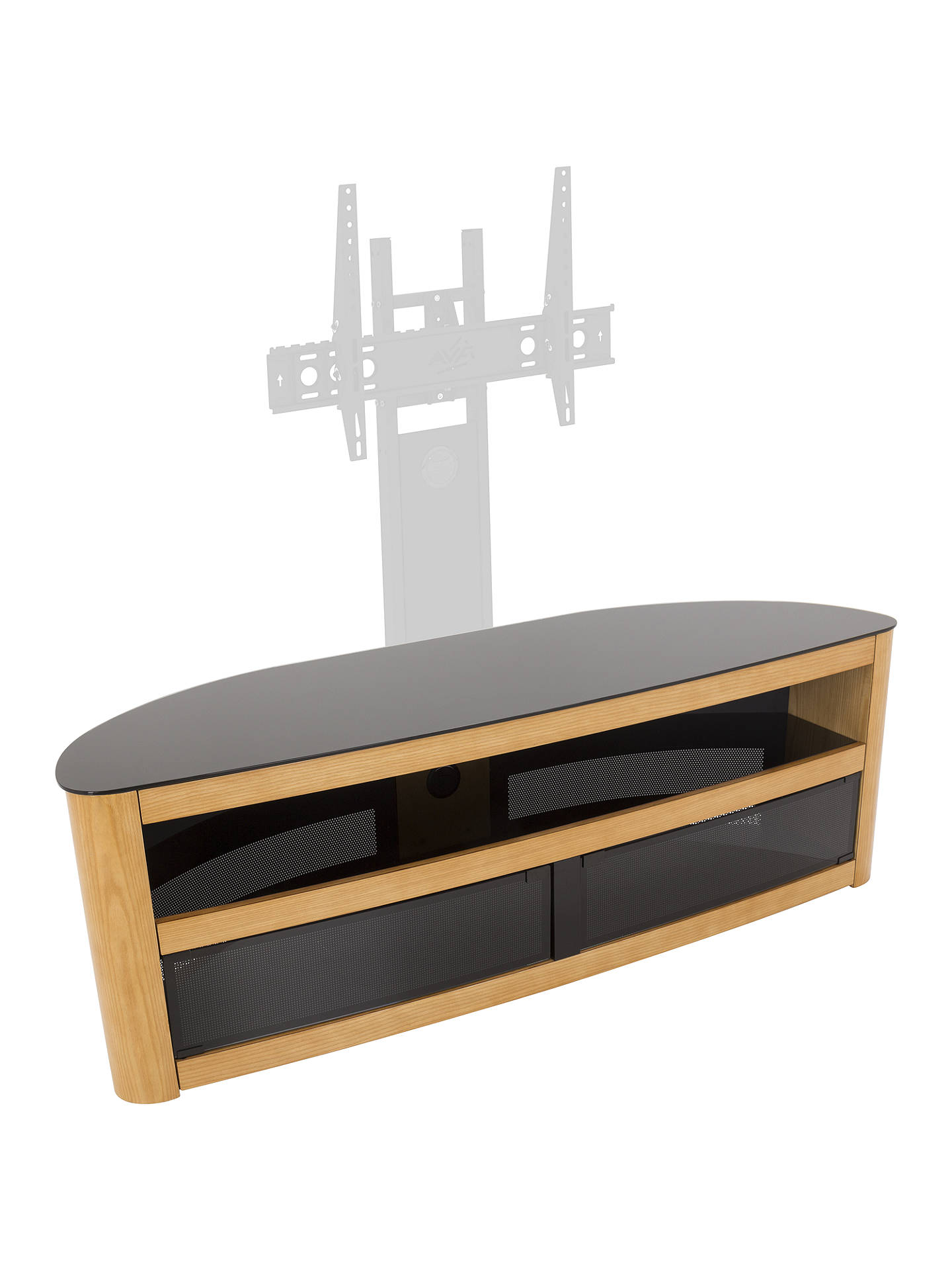 "BuyAVF Affinity Premium Burghley 1500 TV Stand For TVs Up To 70"", Oak Online at johnlewis.com"