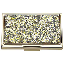 Buy kate spade new york Glitter Card Holder, Gold Online at johnlewis.com