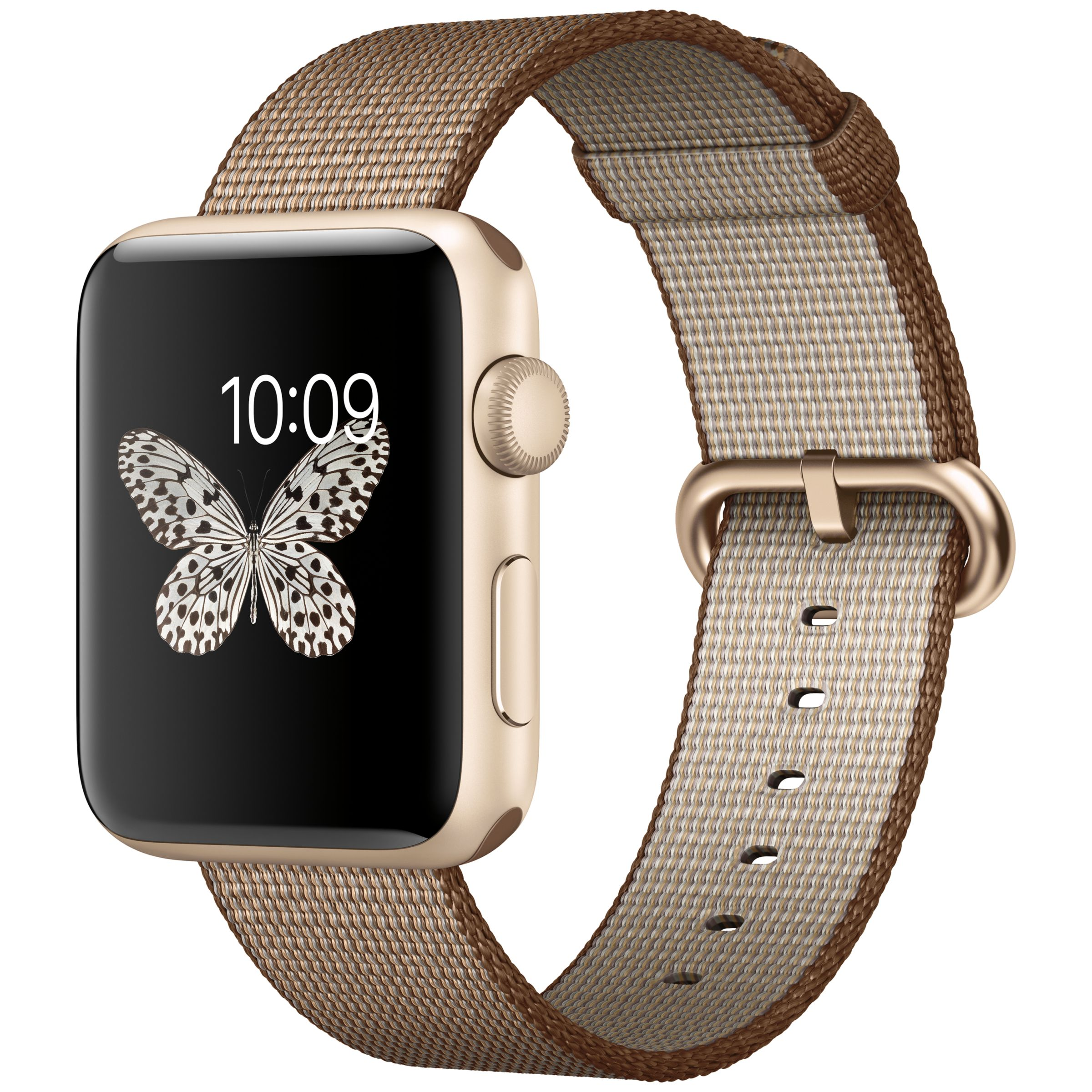 Apple Watch Series 2 42mm Gold Aluminium Case With Woven Nylon Band