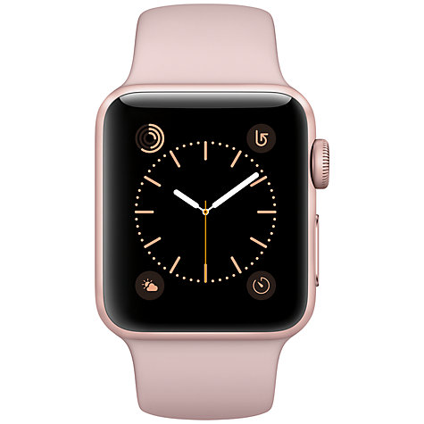 Buy Apple Watch Series 1, 38mm Rose Gold Aluminium Case with Sport Band, Pink Sand Online at johnlewis.com