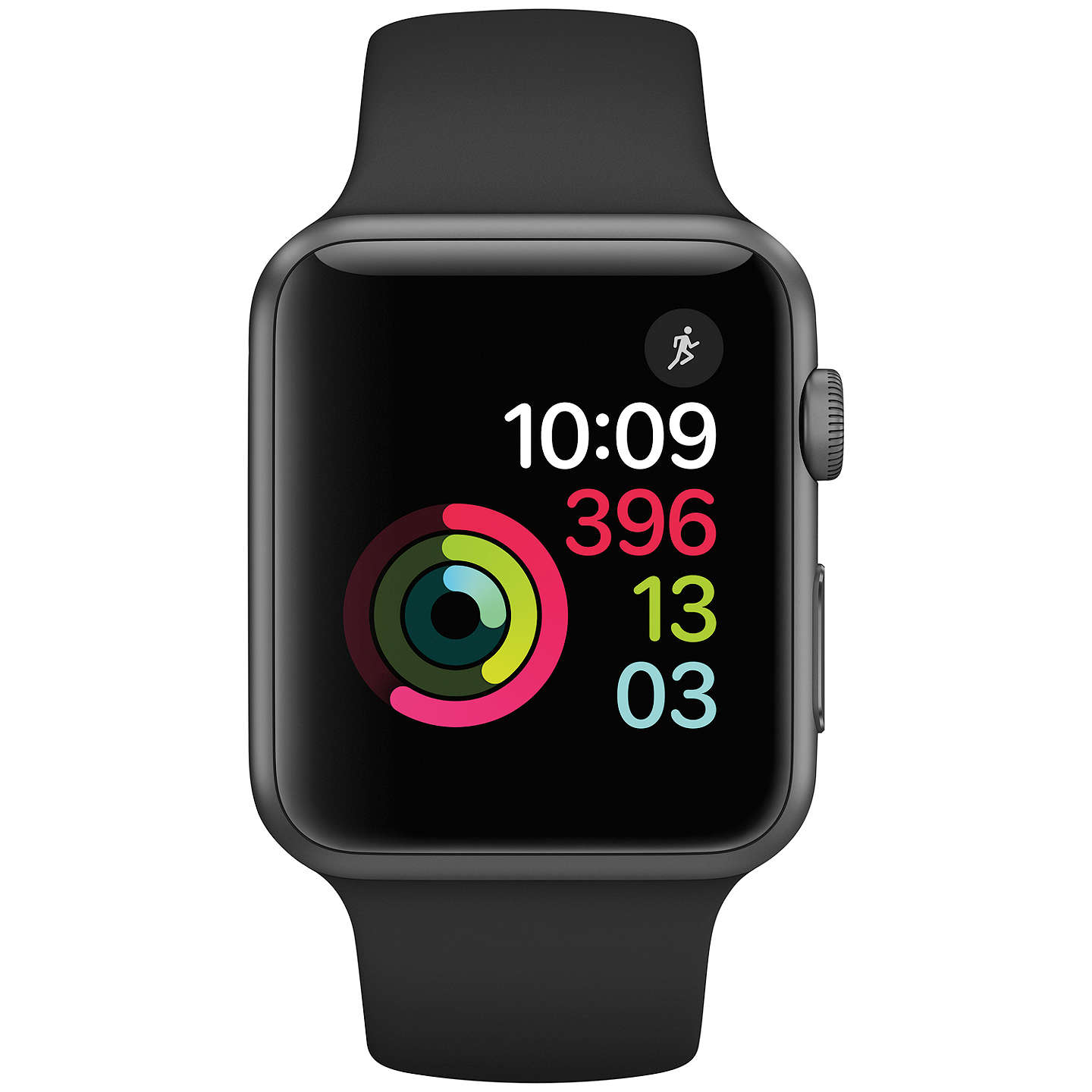 Apple Watch Series 1, 42mm Space Grey Aluminium Case with