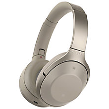 Buy Sony MDR-1000X Noise Cancelling Wireless Bluetooth NFC High-Resolution Audio Over-Ear Headphones with Mic/Remote Online at johnlewis.com
