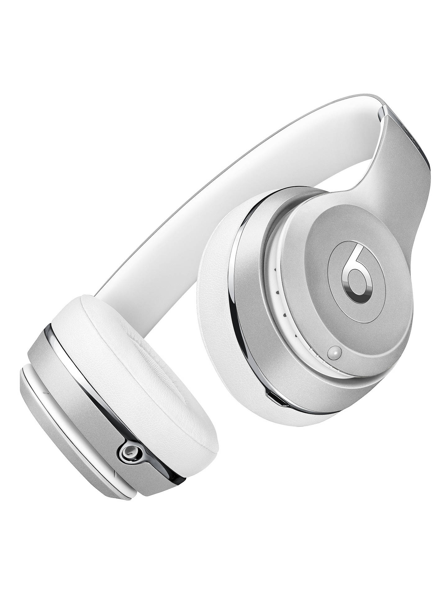 BuyBeats Solo³ Wireless Bluetooth On-Ear Headphones with Mic/Remote, Silver Online at johnlewis.com