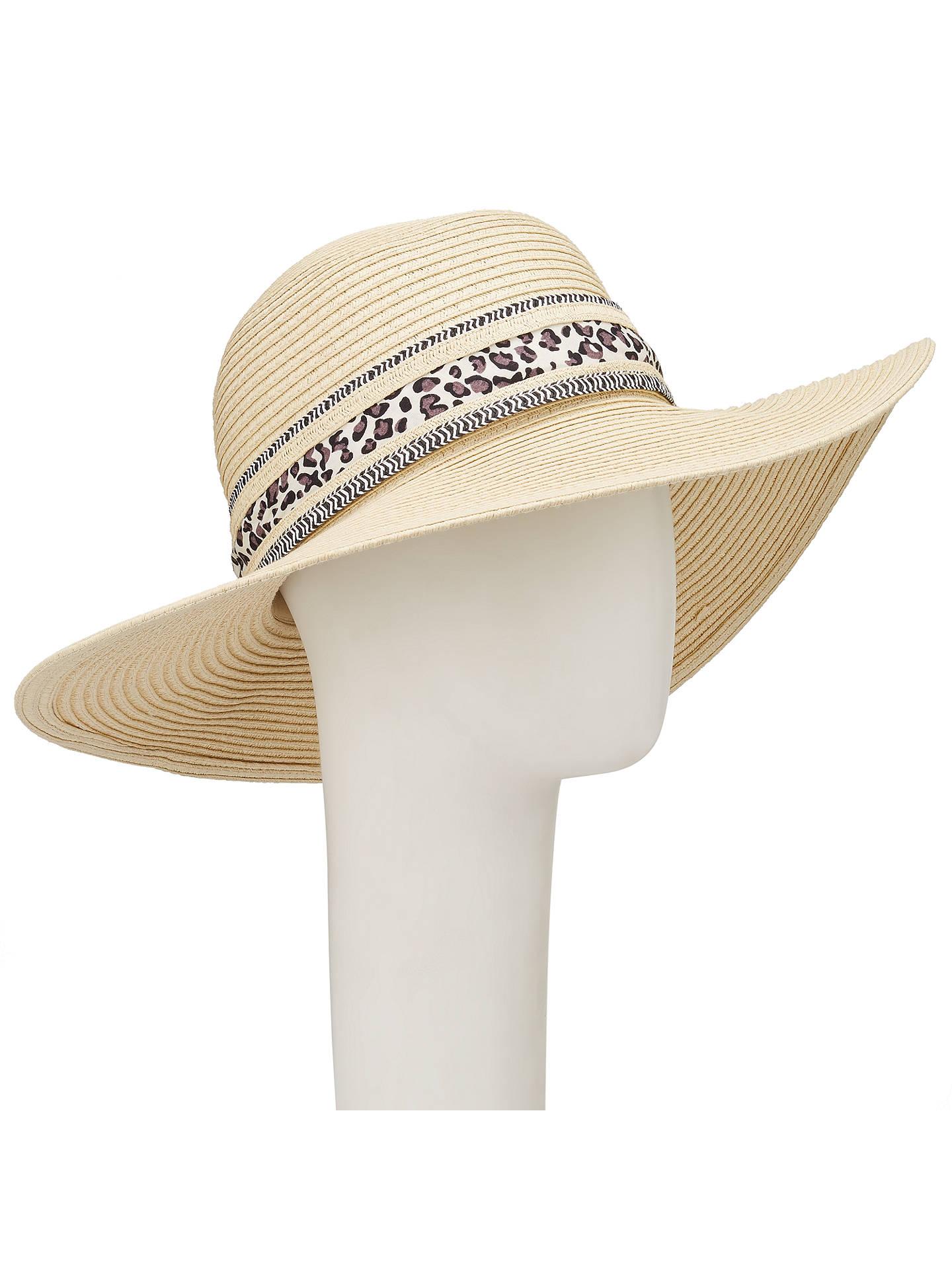 65b5a9d7 Buy John Lewis Packable Floppy Ribbon Trim Sun Hat, Natural Online at  johnlewis.com ...