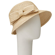 Buy John Lewis Braided Bow Cloche Hat, Natural Online at johnlewis.com