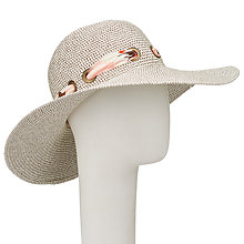 Buy John Lewis Glam Floppy Packable Scarf Detail Sun Hat Online at johnlewis.com