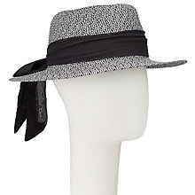 Buy John Lewis Tie Detail Packable Fedora Hat, Black Mix Online at johnlewis.com