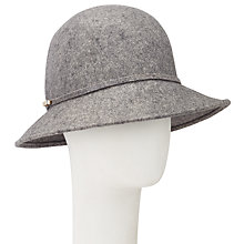 Buy John Lewis Mini Floppy Wool Felt Hat, Grey Online at johnlewis.com