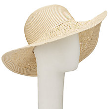 Buy John Lewis Packable Weave Mix Floppy Sun Hat, Natural Online at johnlewis.com