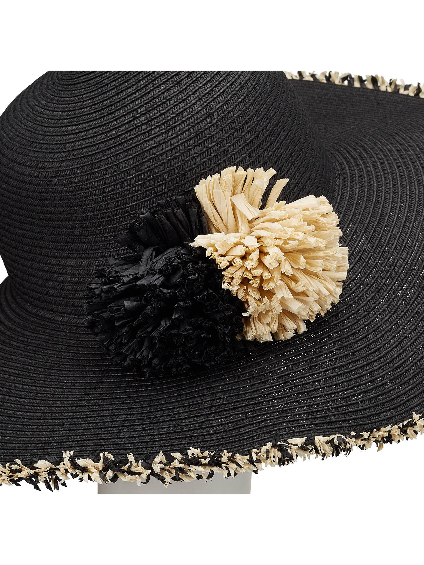 8d32cb5d130 ... BuyJohn Lewis Packable Straw Pom Pom Floppy Sun Hat