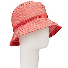 Buy John Lewis Pretty Bucket Hat, Coral Red Online at johnlewis.com