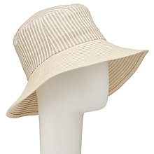 Buy John Lewis Stripe and Braid Sun Hat, Natural Online at johnlewis.com