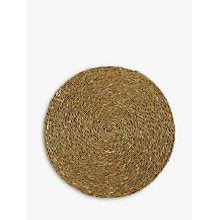 Buy Gone Rural Woven Grass Placemat, Natural Online at johnlewis.com