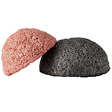 Buy Konjac Charcoal And Pink Clay Sponge Duo Online at johnlewis.com