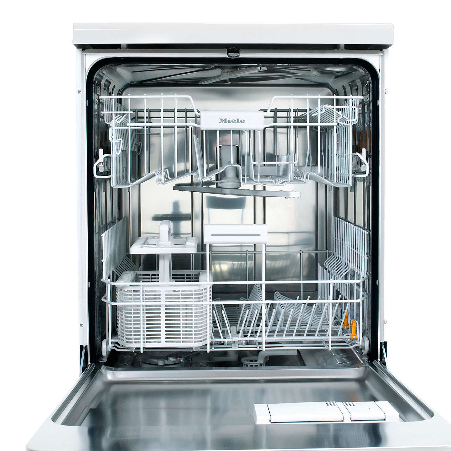 Miele G4940BKCLST Freestanding Dishwasher, Clean Steel at John Lewis