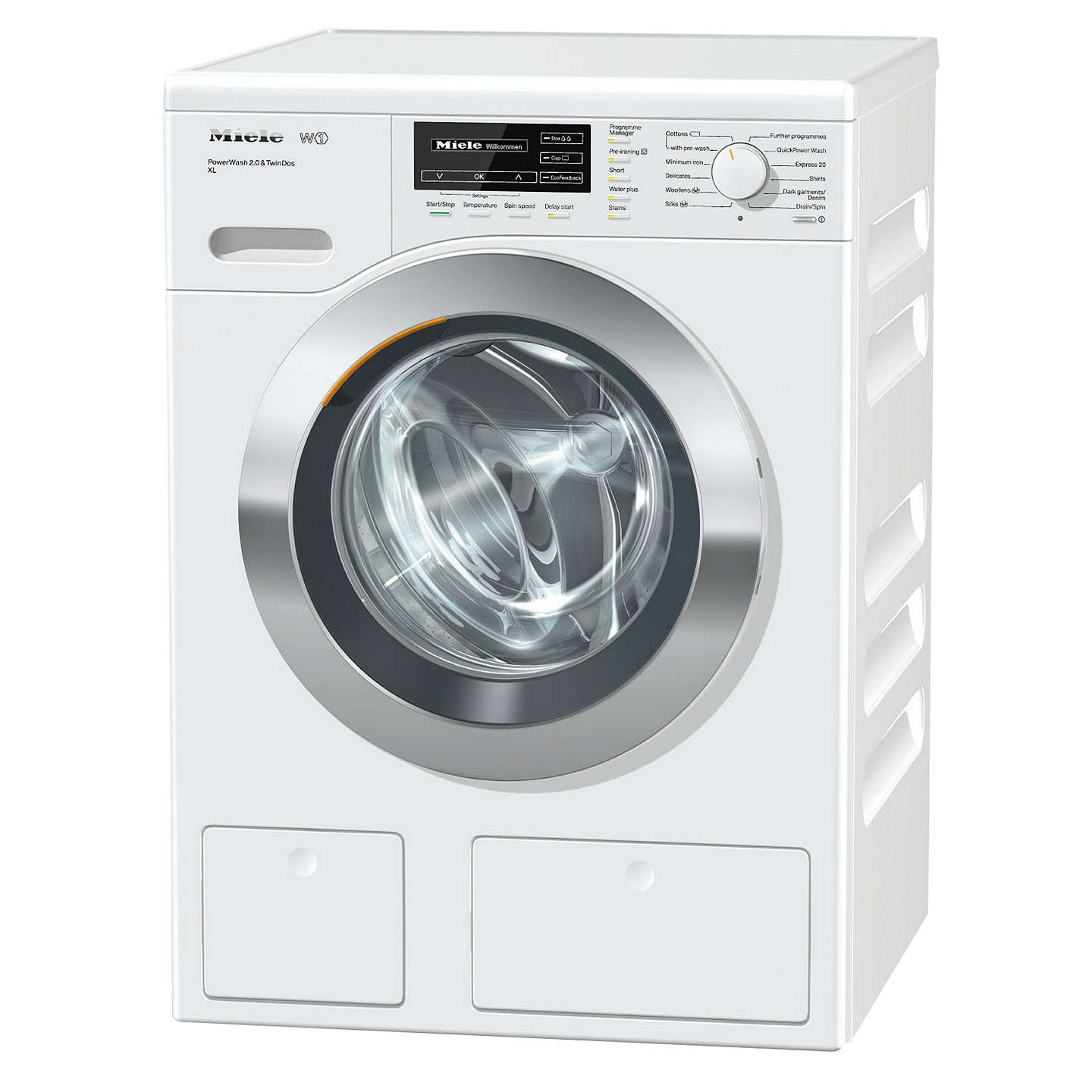 Miele wkh122wps twindos quick powerwash freestanding washing machine buymiele wkh122wps twindos quick powerwash freestanding washing machine 9kg load a energy rating solutioingenieria Choice Image