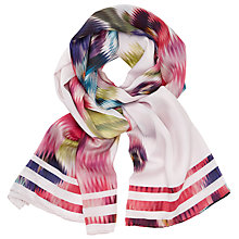 Buy Ted Baker Expressive Pansy Long Scarf, Multi Online at johnlewis.com