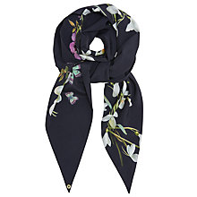 Buy Ted Baker Esmina Skinny Scarf, Midnight/Multi Online at johnlewis.com