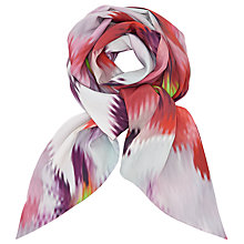 Buy Ted Baker Expressive Pansy Long Scarf, Pink/Multi Online at johnlewis.com