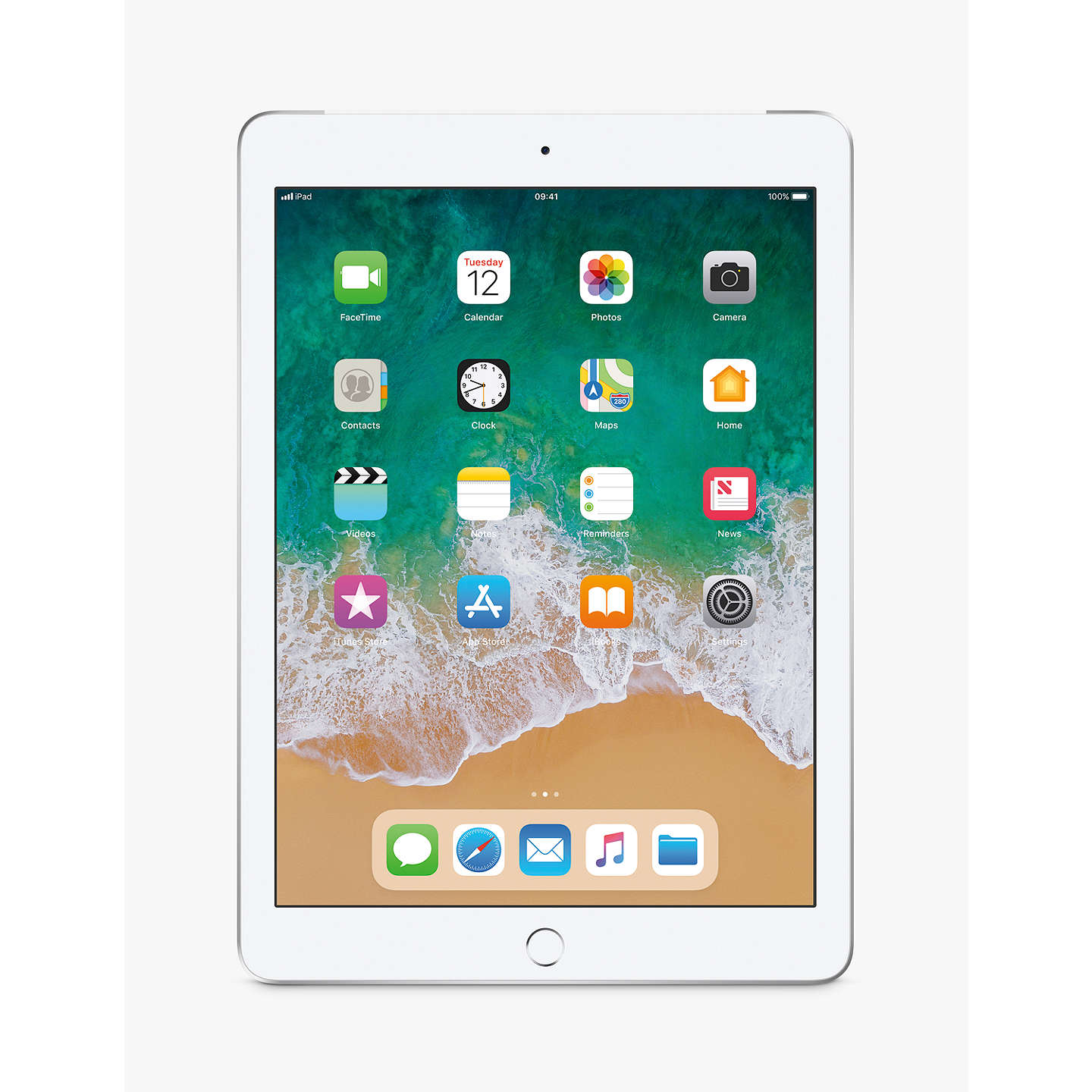 "Buy2018 Apple iPad 9.7"", A10, iOS 11, Wi-Fi & Cellular, 32GB, Silver Online at johnlewis.com"