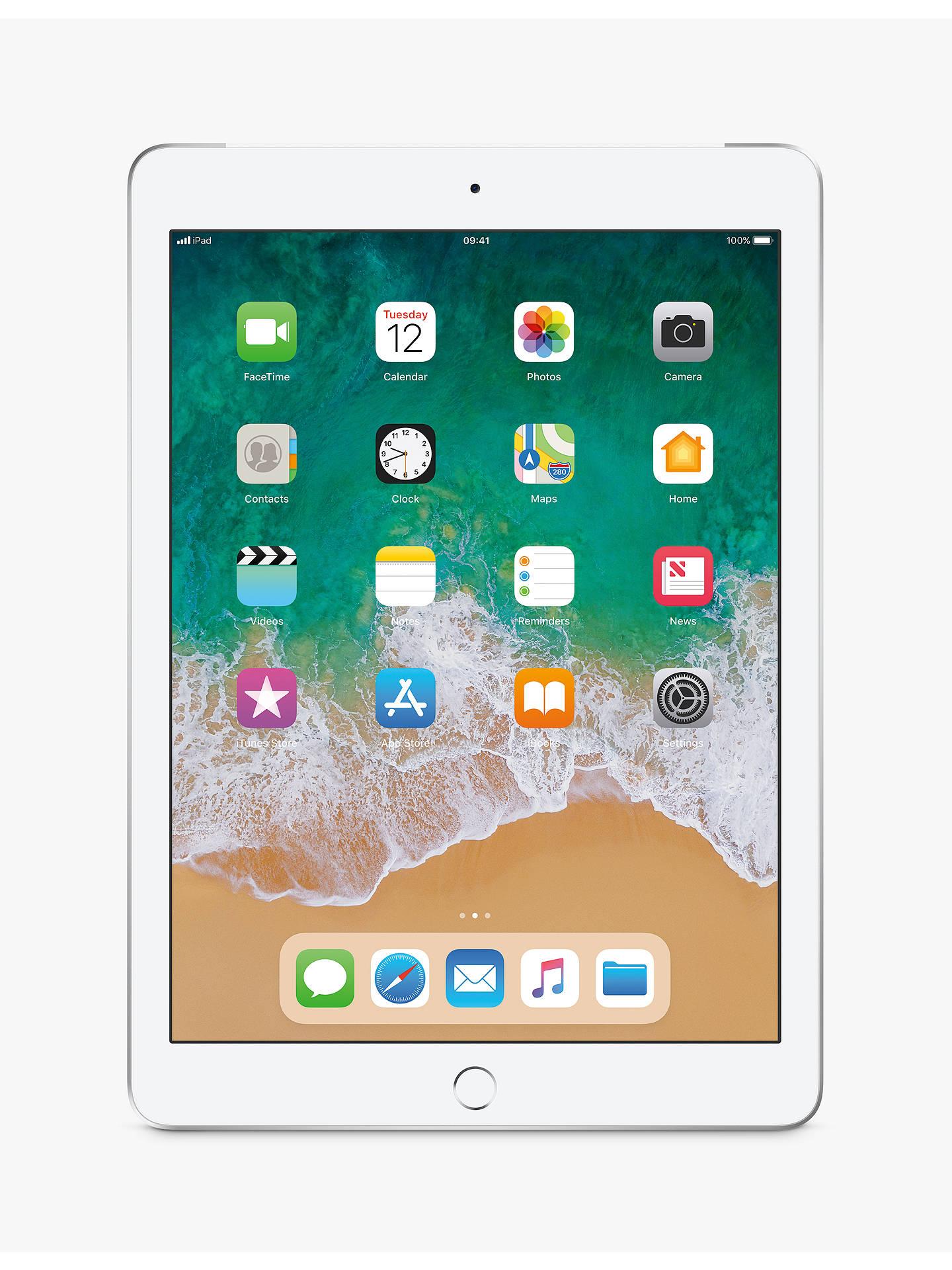 "2018 Apple I Pad 9.7"", A10, I Os 11, Wi Fi & Cellular, 32 Gb, Silver by Apple"