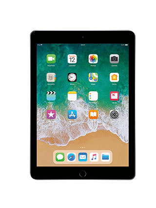 "Buy 2018 Apple iPad 9.7"", A10, iOS 11, Wi-Fi, 32GB, Space Grey Online at johnlewis.com"