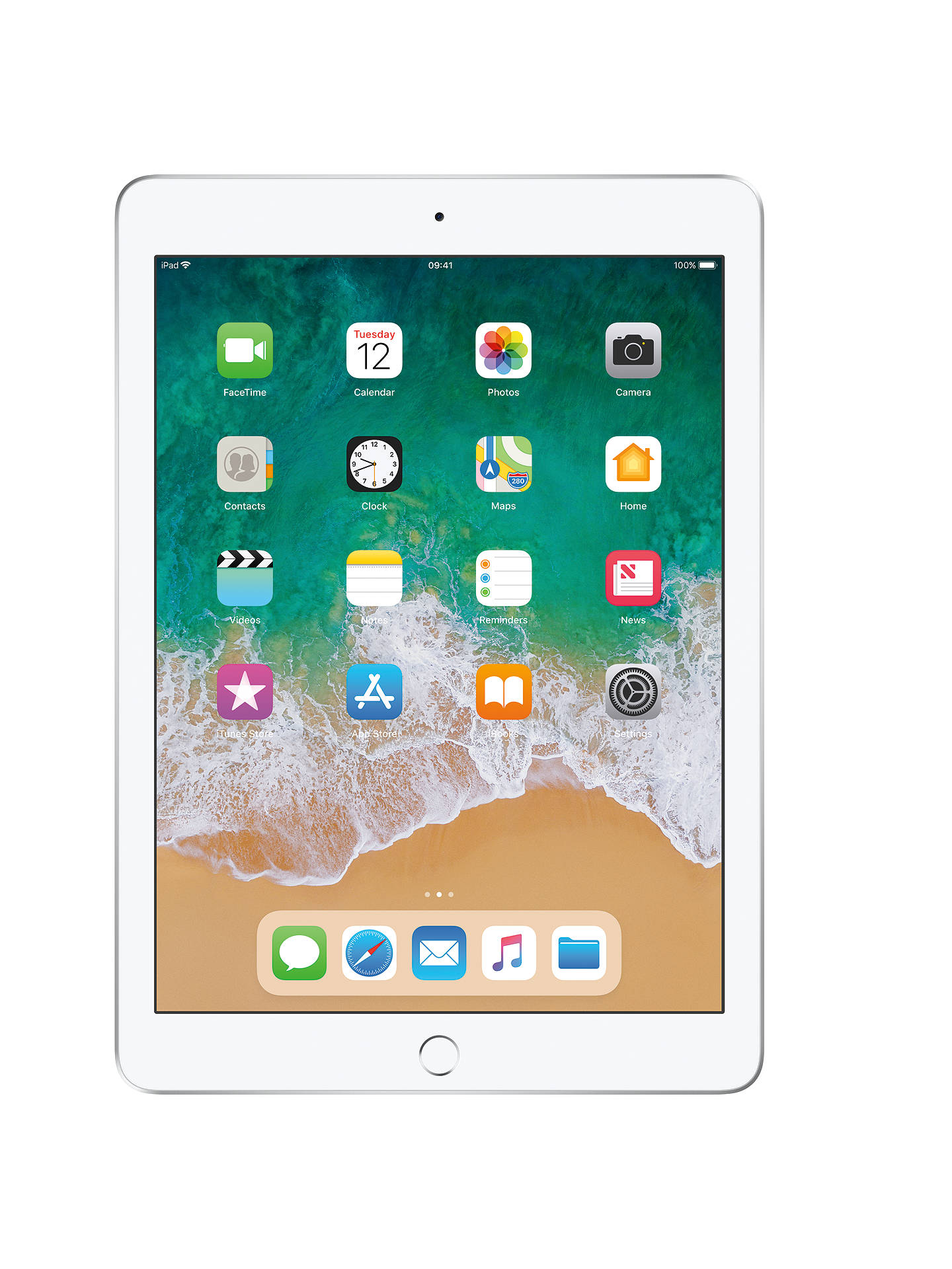 "Buy 2018 Apple iPad 9.7"", A10, iOS 11, Wi-Fi, 32GB, Silver Online at johnlewis.com"