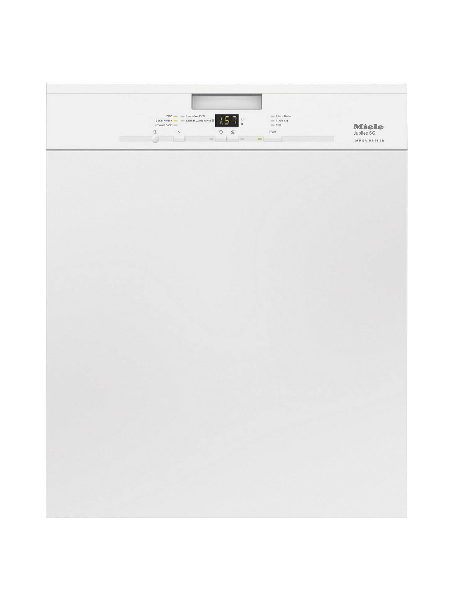 Miele G4940bk Freestanding Dishwasher At John Lewis Partners
