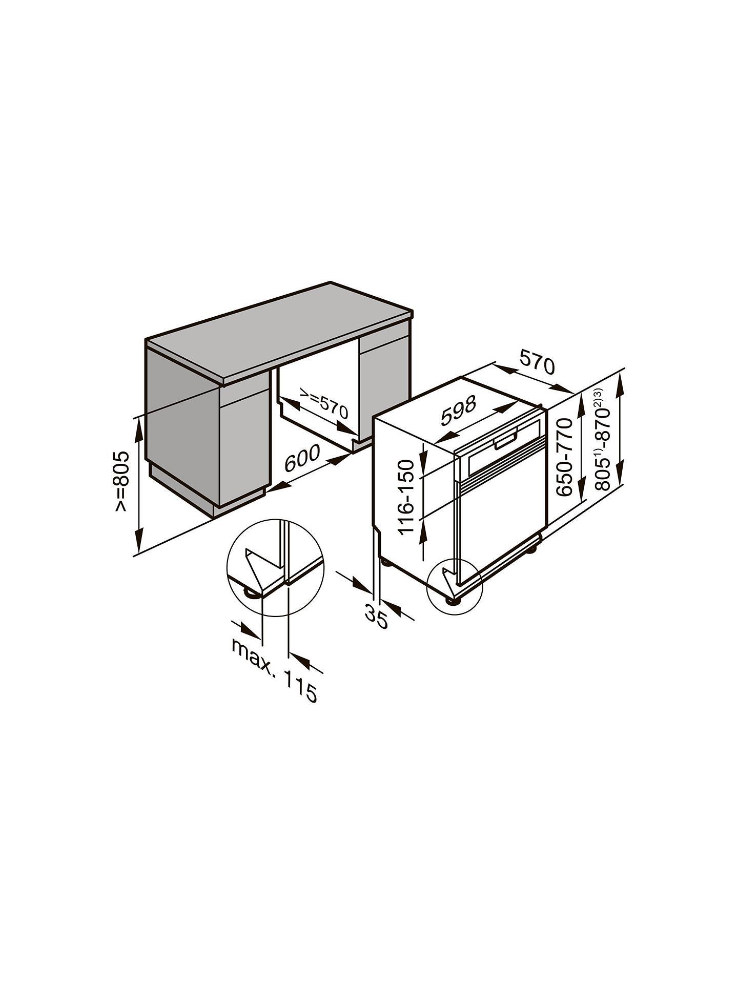 Miele G4940SCI Semi-Integrated Dishwasher at John Lewis