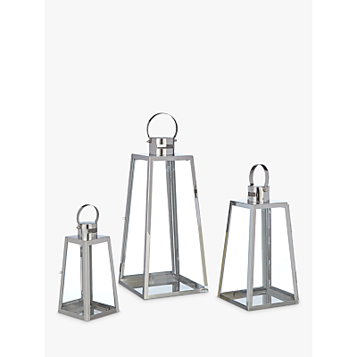John Lewis Pimlico Aluminium Lanterns, Set of 3