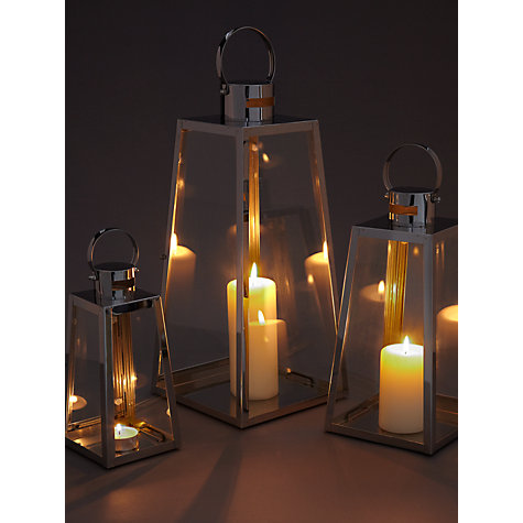 Buy John Lewis Pimlico Aluminium Lanterns, Set of 3 Online at johnlewis.com