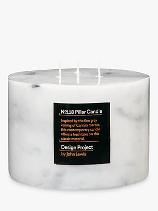 Design Project by John Lewis No.118 Marble Effect 3 Wick Candle