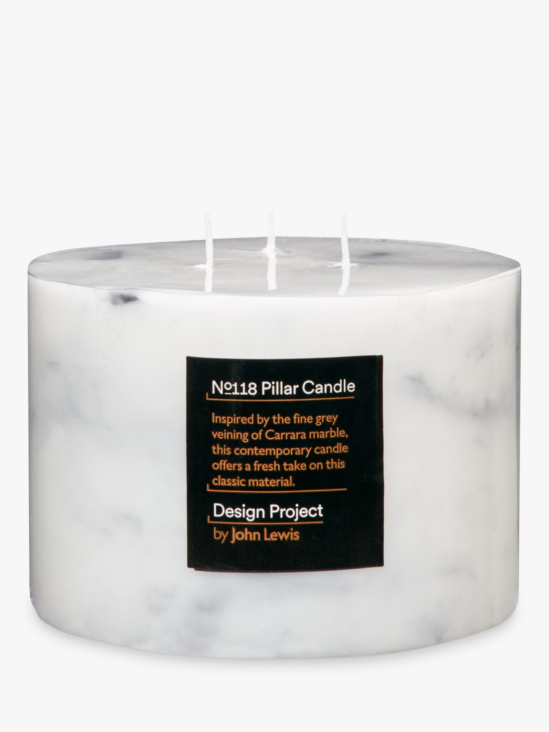 Design Project by John Lewis Design Project by John Lewis No.118 Marble Effect 3 Wick Candle