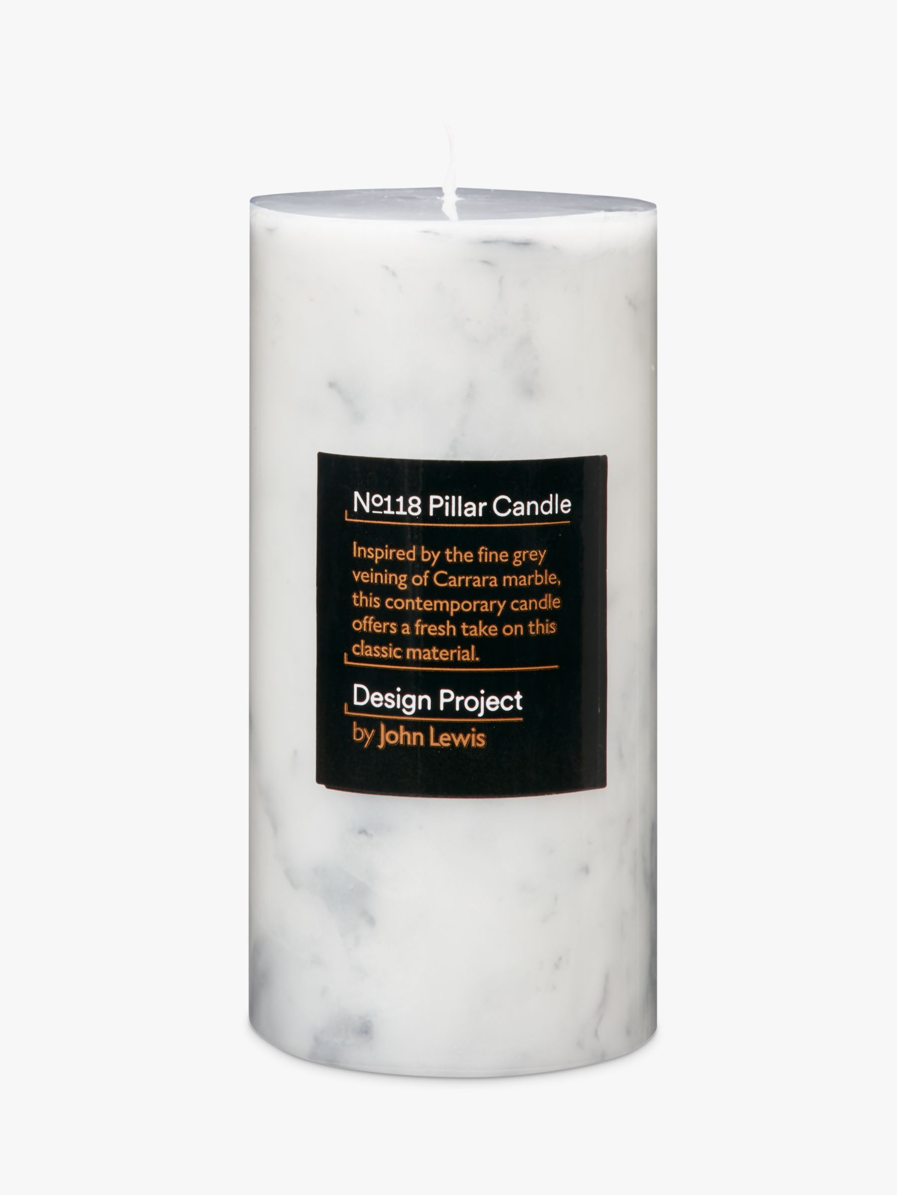 Design Project by John Lewis Design Project by John Lewis No.118 Marble Effect Candle, Small