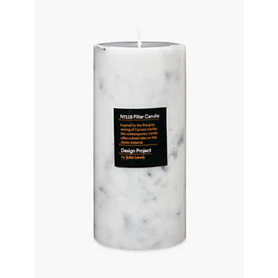 Design Project by John Lewis No.118 Marble Effect Candle, Medium
